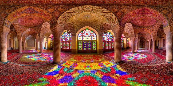 Mezquita Nasir ol Molk en Shiraz